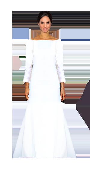 meghan estaba radiante, pero su vestido te decimos qué le faltó