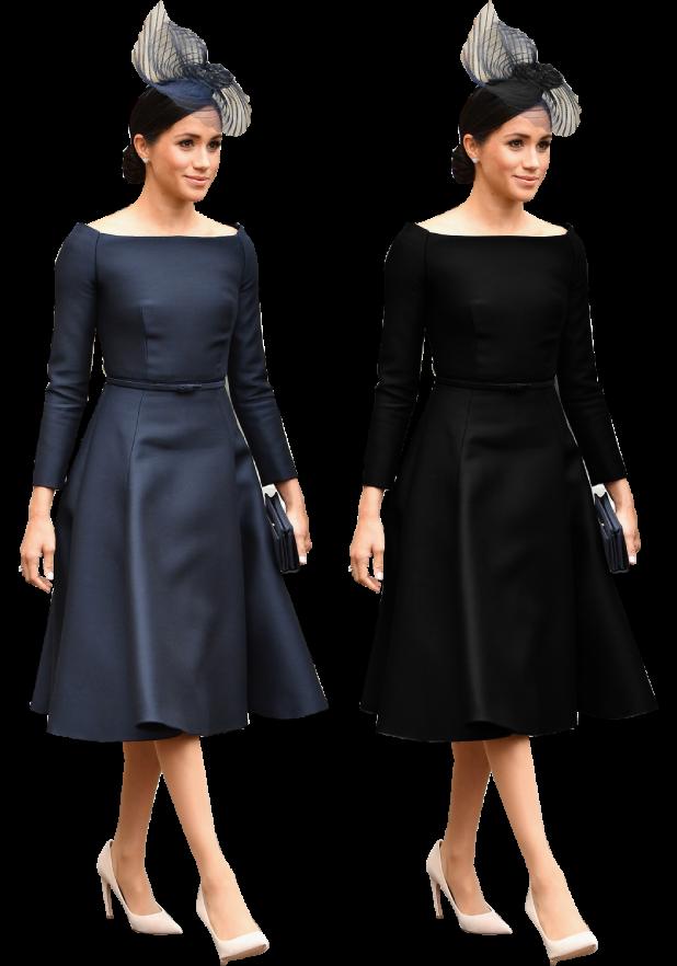 Ver el vestido azul y negro