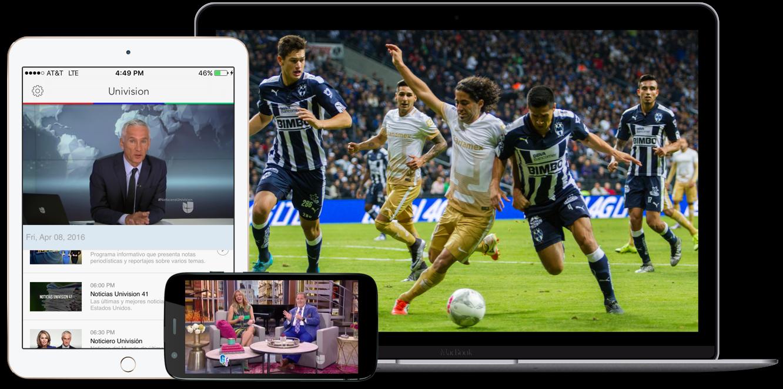 Univision NOW permite ver Univision y UniMás en cualquier